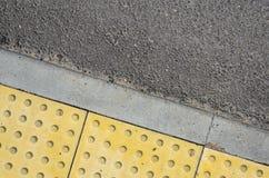 Verkehrs-Weg für blinde Völker-Beschaffenheit Lizenzfreies Stockbild