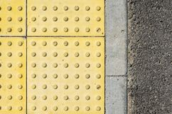 Verkehrs-Weg für blinde Völker-Beschaffenheit Stockbild