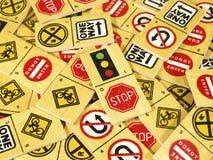 Verkehrsendzeichendominos Stockfotografie