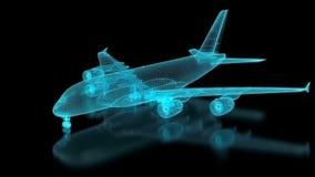 Verkehrsflugzeug-Masche lizenzfreie abbildung