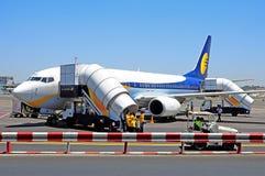 Verkehrsflugzeuge Jet Airways Indien stockfoto