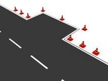 Verkehrskegel, die das Parken markieren Stockfotos