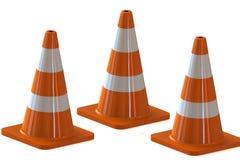 Verkehrskegel für Gebrauchsstraßen Lizenzfreie Stockbilder