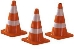 Verkehrskegel für Gebrauchsstraßen Lizenzfreies Stockfoto