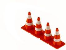 Verkehrskegel für Gebrauchsstraßen Stockfotografie
