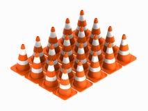 Verkehrskegel für Gebrauchsstraßen Stockfotos