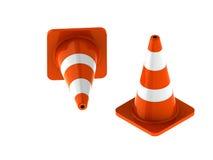 Verkehrskegel für Gebrauchsstraßen Stockbilder