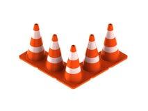 Verkehrskegel für Gebrauchsstraßen Stockfoto