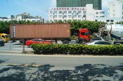 Verkehrslandschaft der Staatsangehörig-Straße Shenzhens 107 Lizenzfreie Stockbilder
