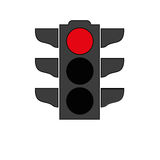 Verkehrslichtsignalikone Lizenzfreies Stockfoto