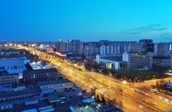 Verkehrsnachtszene von Peking lizenzfreie stockbilder