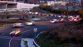 Verkehrsrampenumgehungsstraße stock video footage