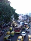 Verkehrsreiche Straße Stockfotos