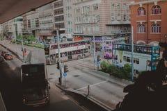 Verkehrsreiche Straße in Hong Kong Lizenzfreies Stockbild