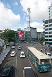 Verkehrsreiche Straße in Rangun Stockfotos