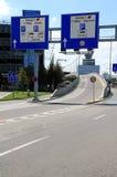 Verkehrsschauzeichen Stockfoto