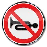 No trumpet, horn or noise. And traffic alarm stock illustration
