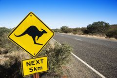 Verkehrsschild Australien Stockfotografie