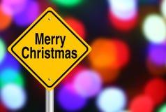 Verkehrsschild der frohen Weihnachten Lizenzfreie Stockfotos