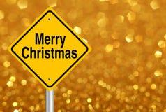 Verkehrsschild der frohen Weihnachten Lizenzfreies Stockbild