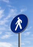 Verkehrsschild der Fußgänger nur Lizenzfreies Stockbild