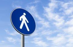 Verkehrsschild der Fußgänger nur Lizenzfreie Stockfotografie