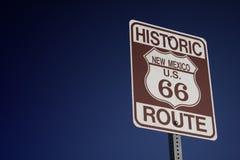 Verkehrsschild des Weges 66 Stockbild
