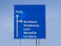 Verkehrsschild Frankreich Lizenzfreies Stockfoto