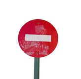 Verkehrsschild handgemacht lizenzfreies stockfoto