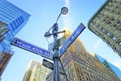 Verkehrsschild herein Midtown Manhattan Lizenzfreie Stockfotografie