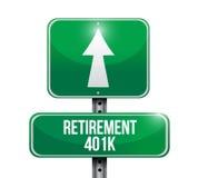 Verkehrsschild-Illustrationsdesign des Ruhestandes 401k Stockfotografie