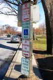 Verkehrsschild innen Washington Lizenzfreies Stockfoto