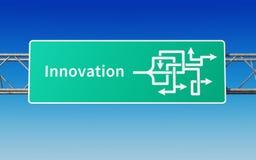 Verkehrsschild mit mehrfachen Wegen zur Innovation Lizenzfreie Stockfotos