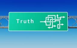 Verkehrsschild mit mehrfachen Wegen zur Wahrheit Lizenzfreies Stockbild