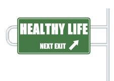 Verkehrsschild-Serie - gesunde Lebensdauer Lizenzfreies Stockbild