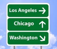 Verkehrsschild USA eingebildet lizenzfreie abbildung