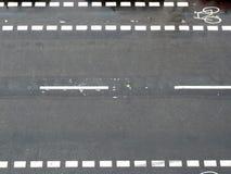 Verkehrsschild von oben Lizenzfreie Stockfotografie