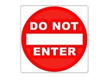 Verkehrsschild-WARNING Lizenzfreie Stockfotos