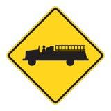 Verkehrsschild-WARNING - Notfall   Stockfotos