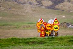 Verkehrsschilder Stockbild