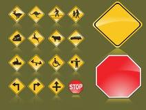 Verkehrsschilder lizenzfreie abbildung