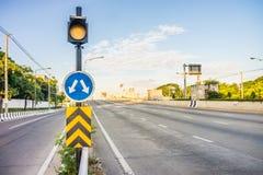 Verkehrsschilder in Bangkok-Stadt, Thailand Lizenzfreies Stockbild