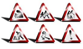 Verkehrsschilder des Dreiecks 3d Lizenzfreie Stockbilder