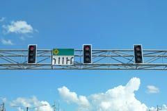 Verkehrsschilder des roten Lichtes in Thailand Lizenzfreie Stockbilder