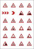 Verkehrsschilder u. Schauzeichen Stockbilder