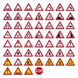 Verkehrsschildsatz Lizenzfreie Stockbilder
