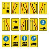 Verkehrsschildsatz Lizenzfreies Stockbild