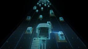 Verkehrssteuerungsüberwachungskameras IOT-Technologie handeln Sie Überwachungskameras anbrachte Hauptleitung an der hohen Weise,  stock abbildung