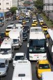 Verkehrsstockung in Istanbul Stockbild