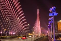 Verkehrsszene auf Brücke Lizenzfreie Stockfotos